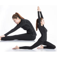 Long-Sleeve Fitness Vestuário Mulheres Esporte T-Shirt Yoga Corrida