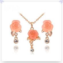 Joyería de cristal joyería de moda joyería conjuntos de aleación (ajs105)