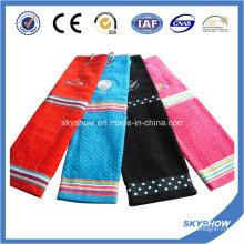 100% Baumwolle Stickerei Golf Handtuch (SST1020)