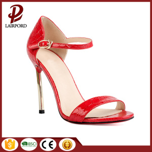 metal heel red Serpentine real leather sandals