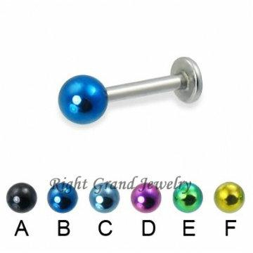 Weihnachtsgeschenke Titan Eloxiert Ball Labret Lip Ring