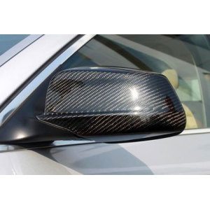 Glossy and Matte Carbon Fiber Mirror Cover