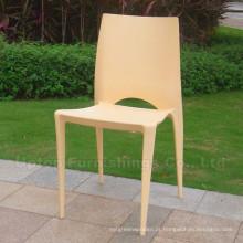 Cadeira de plástico empilhável para restaurante / comida tribunal / Cantina / Jardim (sp-uc101)