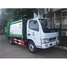 Rear Loader Recycling Roll 3cbm trash compactor truck