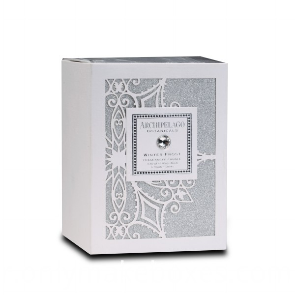 Silver glitter gift box with Laser Pattern