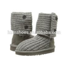 Kids Boots Knitted Sweater Crochet Girls Boots