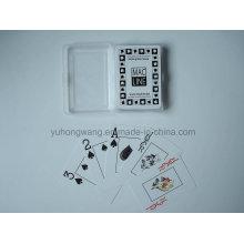 Carte de jeu de cartes de qualité, jeu de société avec boîte de PP