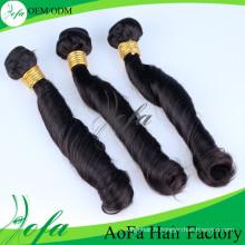 Extension de cheveux humains Remy de cheveux vierges non transformés de 100% de ventes chaudes