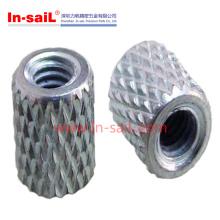 2016 en gros moleté en aluminium insert fileté pour fabricant