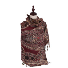 100%Polyester Long Warm Scarf Winter Shawl Fashion Pashmina
