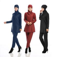 Vestuário islâmico Modest Muçulmano Senhora Swimwear Cobertura Completa Beachwear Muçulmano Mulheres Maiôs Trajes Islâmicos
