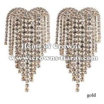 Large big Rhinestone Wedding Earrings