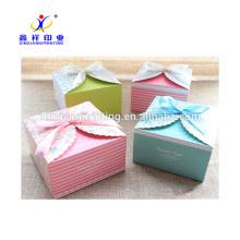 Tamaño personalizado OEM o color Caja decorativa al por menor de la galleta de la torta del postre de la boda con precio barato
