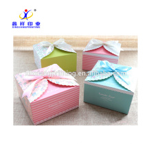 Taille faite sur commande d'OEM ou boîte de biscuit de boîte décorative de gâteau de dessert de décoration au détail de couleur avec le prix bon marché