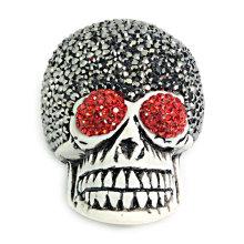 Fashion Guru Head Bone Gemstone Pendant Rinestone Crystal Bead Jewelry Necklace DIY