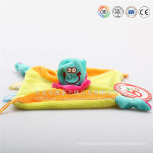 embroidery baby blanket with animal toy bath towel
