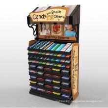 Cardboard Pockets Floor Display for Food Candy
