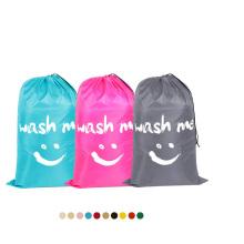 Customized Cheap Nylon Heavy Duty Durable Laundry Bags Reusable Hotel Drawstring Wash travel Laundry Bag