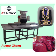 Elucky Africa big size 15 colors high speed single head embroidery machine with cheap price