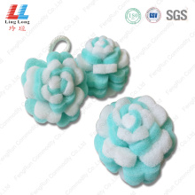 Multilayer sponge flower bath item