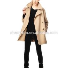 2014-2015 coreano estilo de la moda de las mujeres 100% abrigos de lana de invierno