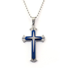 Unisex Men Stainless Steel Cross Pendant Necklace