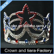 Corona de la tiara de la princesa, corona de la tiara de las muchachas del Rhinestone