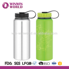 High Quality Customized Double Wall Stainless Steel Cool Water Bottle 1 Litre