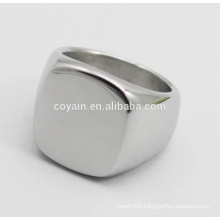 2016 Hottest Selling Customize Blank Stainless Steel Signet Ring