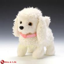 EN71&ASTM standard white stuffed toy walking puppy