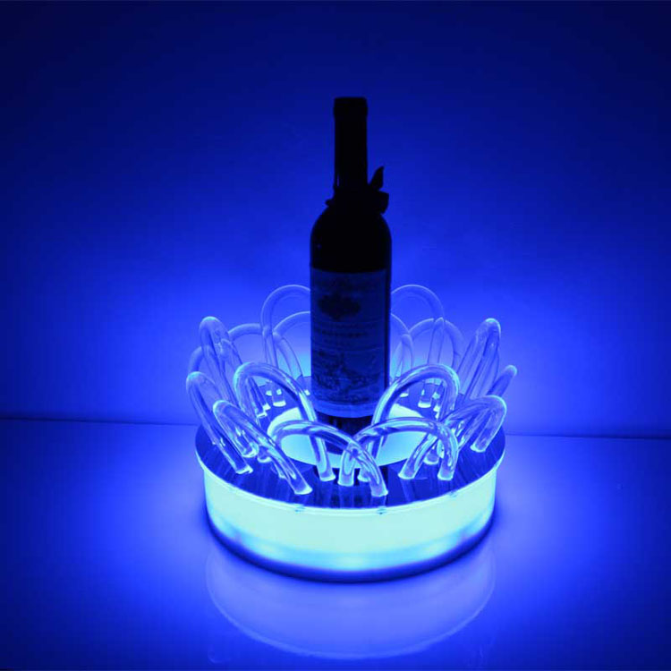 A 3wi0007 Custom Small Lucite Wine Bottle Holder