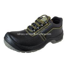Split geprägtes Leder Sicherheit Schuhe Low-Cut-Knöchel (HQ03054)