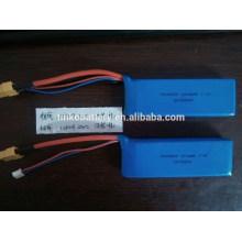 2200mah recargable lipo 7.4v 2s paquete de batería de polímero de litio de helicóptero rc