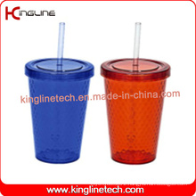 600ml single wall straw cup (KL-SC103)