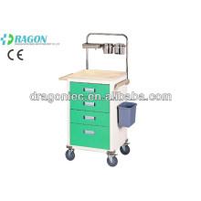 DW-AC216 carrinho de carrinho anestésico para a roupa suja carrinho médico carrinho de hospital carrinho de carrinho de aço inoxidável para venda quente