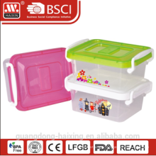 plastic storage container w/wheels 1L