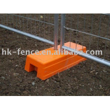 temporary construction fencing plastic block