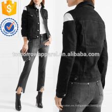 Recorte stretch-denim coat fabricación venta al por mayor moda mujeres clothing (TA3028C)