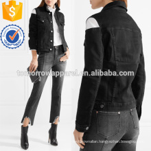Cutout Stretch-denim Coat Manufacture Wholesale Fashion Women Apparel (TA3028C)