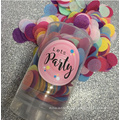 Colorful Push Pop with Metallic foil /paper tissue
