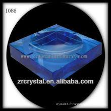 K9 Cendrier en cristal bleu