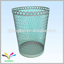 Flower shape metal wire innovative trash ash garbage bin stand