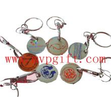 Металлическая тележка для монет, металлический брелок для ключей (m-TC016)
