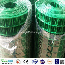 green pvc/plastic coated wire mesh fencing