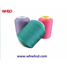 Полиэфирная вискоза смешанная покрывающая пряжа Spandex для ткани