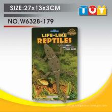 Design de modelo de lagarto de animal de plástico macio com todos os relatórios de teste