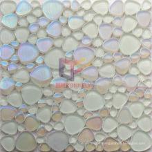 Rainbow Color Heart Shape Glass Crystal Mosaic (CFC586)