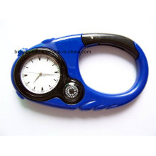 Multifunctional Plastic Carabiner Watch with Backlight Compass