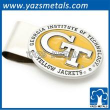 Custom metal gravar clip de dinheiro do logotipo