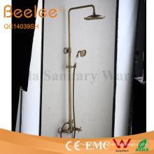 Antique Brass 2 Funktion Dule Kreuzgriff Dusche Set Wandhalterung Regendusche Wasserhahn